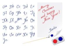 Het alfabet huwt Kerstmis Royalty-vrije Stock Fotografie