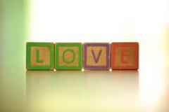 Het alfabet in liefde Stock Foto
