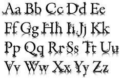 Het alfabet met patronen Royalty-vrije Stock Foto