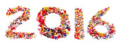 het alfabet van 2016 Royalty-vrije Stock Afbeelding