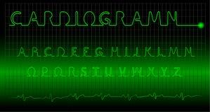 Het alfabet van Cardiogramm Stock Foto