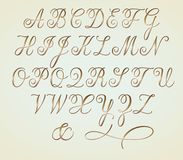 Het Alfabet van het Copperplatsemonogram Stock Afbeelding