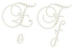 Het alfabet van de aantrekkingskracht dat van parels wordt gemaakt Royalty-vrije Stock Foto's