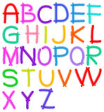 Het alfabet van de ballon Stock Foto's