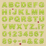 Het alfabet van de bloem Stock Fotografie