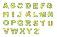 Het alfabet van de bloem. Royalty-vrije Stock Afbeelding