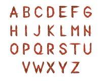 Het alfabet van de herfst stock afbeeldingen