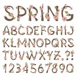 Het Alfabet van de lente Royalty-vrije Stock Foto's