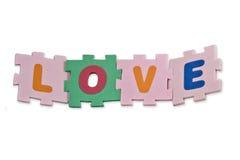 Het Alfabet van de liefde Stock Afbeelding
