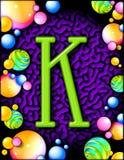 Het alfabet van de partij - K Stock Afbeeldingen