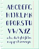 Het alfabet van de pen Stock Foto's