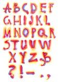 Het alfabet van de regenboog vector illustratie