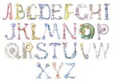 Het alfabet van de robot vector illustratie