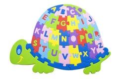 Het alfabet van de schildpad Stock Foto's