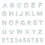 Het alfabet van de sneeuw Stock Foto