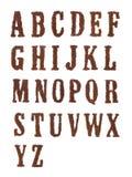 Het alfabet van de tabak Stock Fotografie
