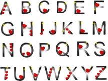 Het alfabet van de valentijnskaart Stock Foto's