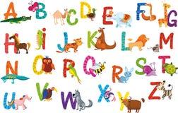 Het alfabet van dieren Stock Fotografie