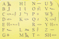 Het alfabet van Egypte Stock Afbeeldingen