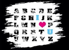 Het alfabet van Emo grunge Royalty-vrije Stock Fotografie