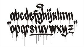 Het alfabet van Graffiti royalty-vrije illustratie