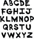 Het alfabet van Graffiti Stock Foto