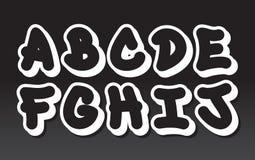 Het alfabet van Graffiti (deel 1) Stock Foto