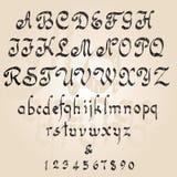 Het alfabet van Grunge Royalty-vrije Stock Foto's