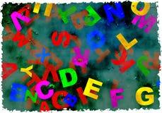 Het alfabet van Grunge Stock Foto's