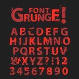 Het alfabet van Grunge Royalty-vrije Stock Foto