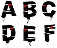 Het alfabet van Halloween grunge Stock Afbeelding