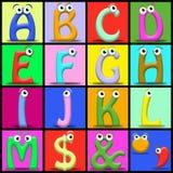 Het alfabet van het beeldverhaal Royalty-vrije Stock Foto