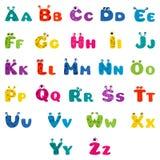 Het alfabet van het beeldverhaalmonster Royalty-vrije Stock Foto's