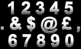 Het Alfabet van het chroom Stock Afbeelding