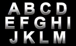 Het Alfabet van het chroom Royalty-vrije Stock Fotografie