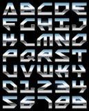 Het alfabet van het chroom stock illustratie