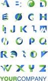 Het alfabet van het embleem vector illustratie