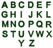 Het alfabet a van het gras aan z Stock Afbeelding
