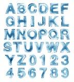 Het alfabet van het ijs Stock Foto's