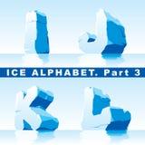Het alfabet van het ijs. Deel 3 Stock Foto's