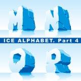 Het alfabet van het ijs. Deel 4 Royalty-vrije Stock Foto