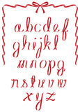 Het alfabet van het Kerstmislint Royalty-vrije Stock Afbeeldingen