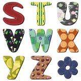 Het alfabet van het lapwerkplakboek Stock Afbeelding