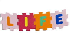 Het Alfabet van het leven Stock Afbeeldingen