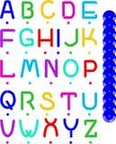 Het Alfabet van het lovertje Stock Foto's