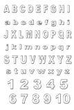 Het alfabet van het metaal Royalty-vrije Stock Afbeelding