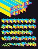 Het alfabet van het pixel Royalty-vrije Stock Afbeeldingen