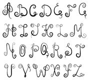 Het alfabet van het vignet Stock Afbeelding