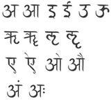 Het alfabet van Hindustan Royalty-vrije Stock Foto's