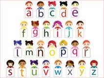 Het alfabet van jonge geitjes Stock Foto
